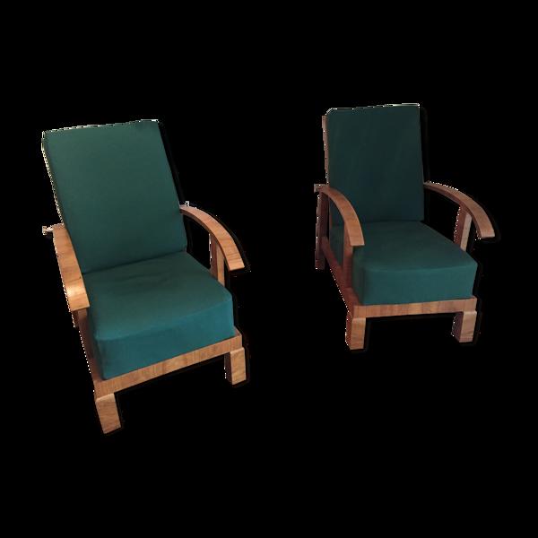 Paire de fauteuils art deco années 1930 Sitzmachine