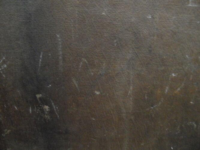 Peinture antique sur le panneau