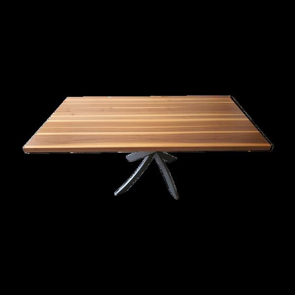Selency Table à manger en bois pieds design Angel Cerda