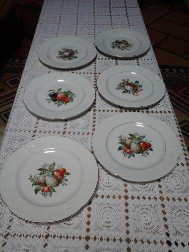 6 assiettes à dessert Moulin des loups