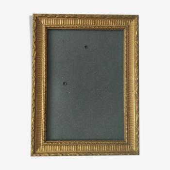 Cadre doré pour un placé une image photo de 13 x 18 cm  De marque deknudt  Jamais utilisé état com