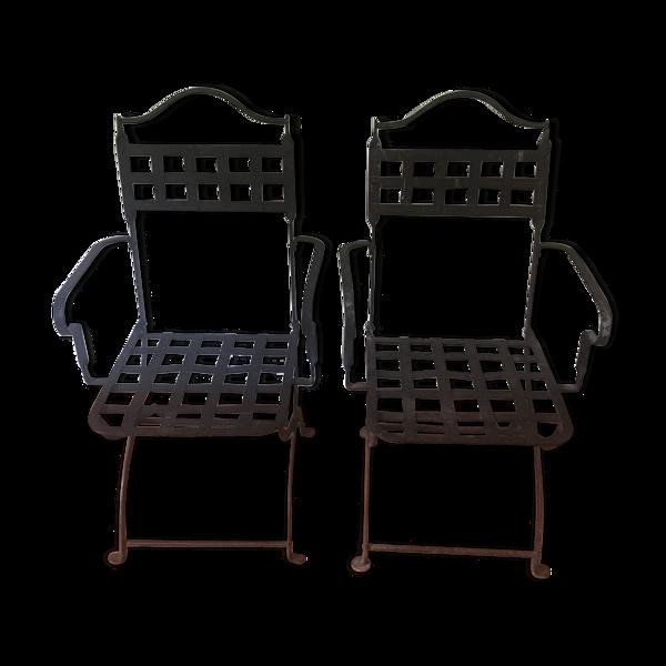 Lot de 2 chaises fer forgé