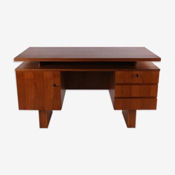 Bureau en teck vintage danois avec 3 tiroirs