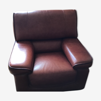 Roche and Bobois leather armchair