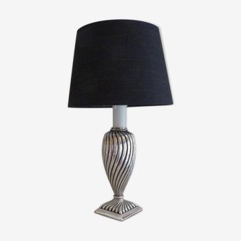Silver metal lamp
