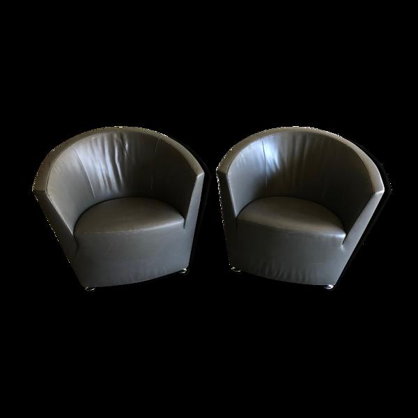 Selency Lot de 2 fauteuils Parentesi
