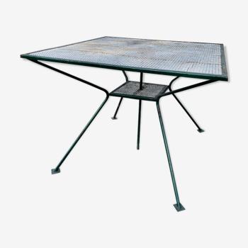 Table carré de jardin des années 50