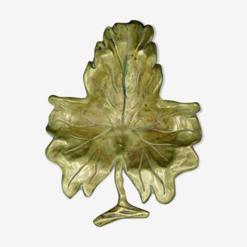 Early 20th century bronze pocket - Leaf