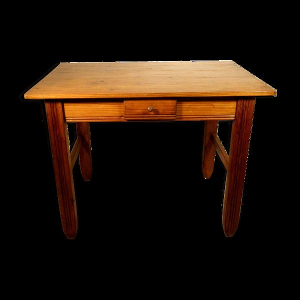 Table de ferme en pin 100 x 71 cm