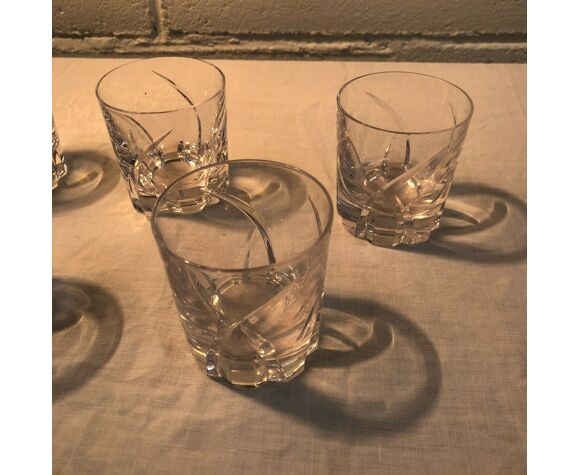 Ensemble de 5 petits verres en cristal  Saint Louis