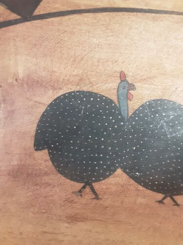 Corbeille en calebasse des Antilles vintage