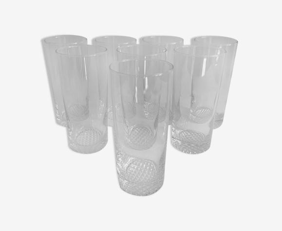 8 verres vintage
