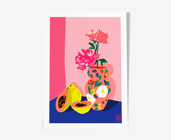 Papaya - illustration en édition limitée, format A3 Elisa Brouet