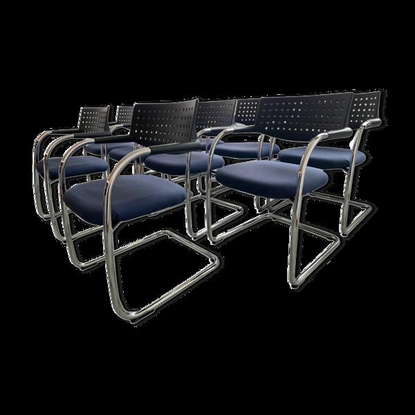 Lot de 10 chaises modèle Visavis Antonio Citterio pour Vitra, 1990
