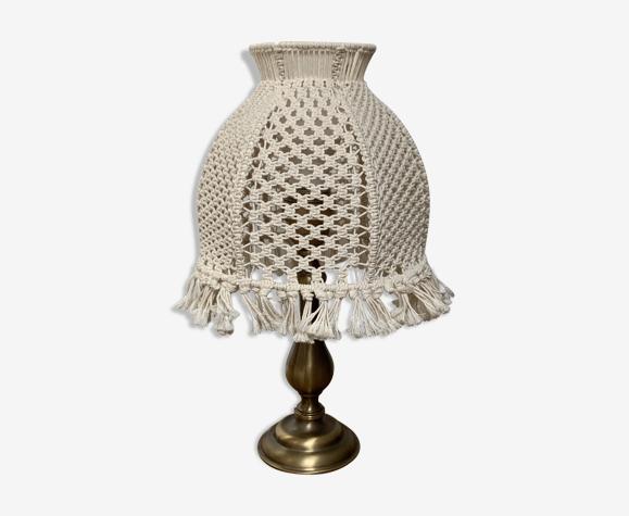 Lampe abat-jour macramé