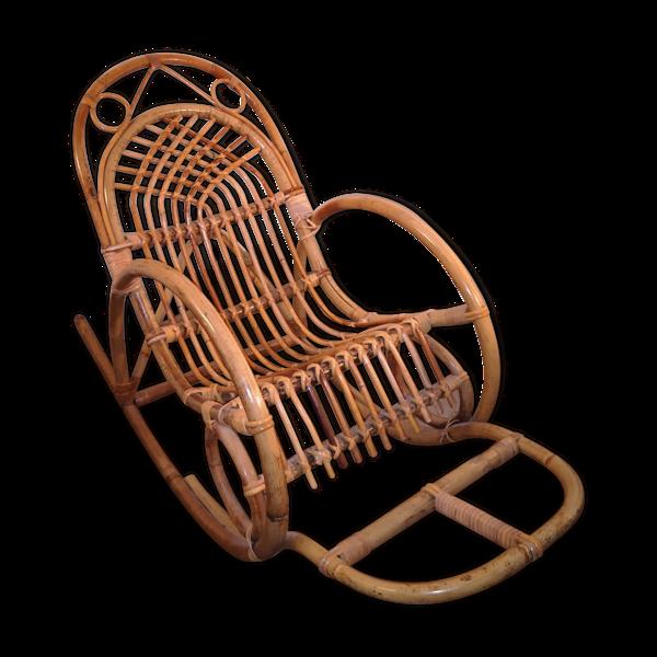 Rocking chair rotin enfant