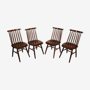 Série de 4 chaises scandinave 1960