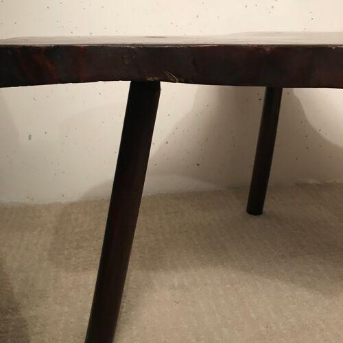 Table basse bois forme libre 1960