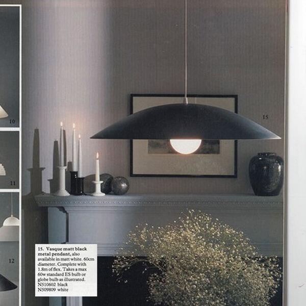3 suspensions de Conran Design-Groupe pour Habitat 1980