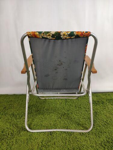 Chaise pliable camping vintage décor floral Pouch DDR