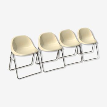 Quatre chaises Minisit Marco Zanuso Elam 1969