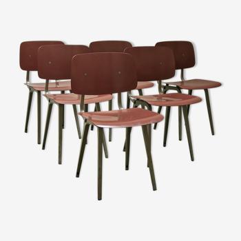 """Set de 6 chaises """"Revolt"""" par Friso Kramer pour Ahrend de Cirkel 1954"""