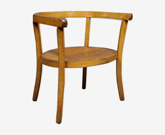 1950s curved wooden children's chair
