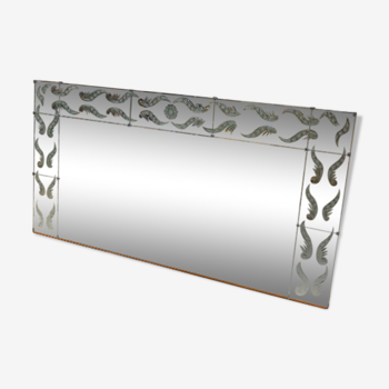 Miroir de brasserie bistrot art déco biseauté 104cm x 200cm