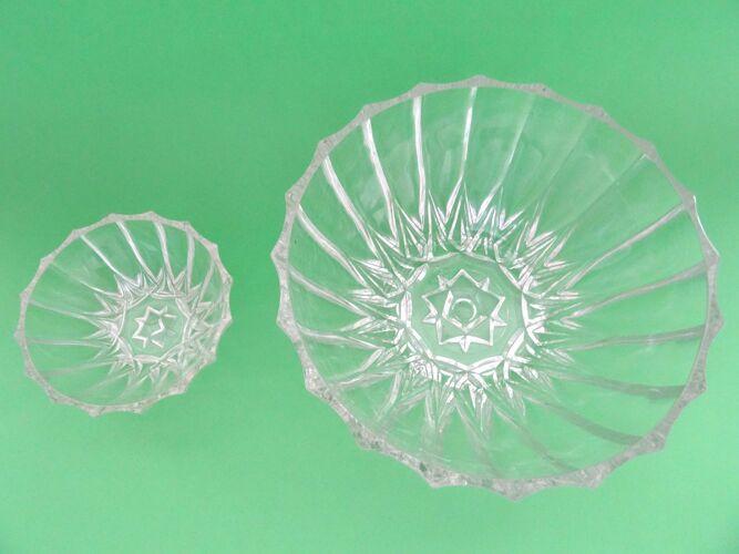 Saladier avec ramequins en verre