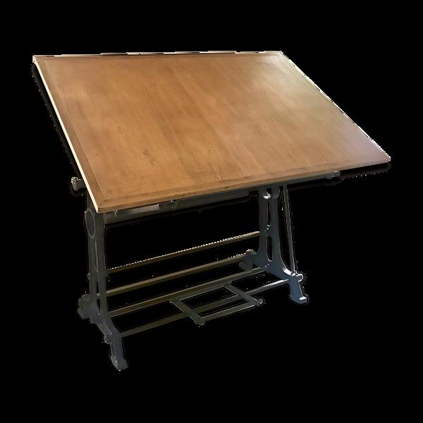 Table à dessin fonte et acier Oza