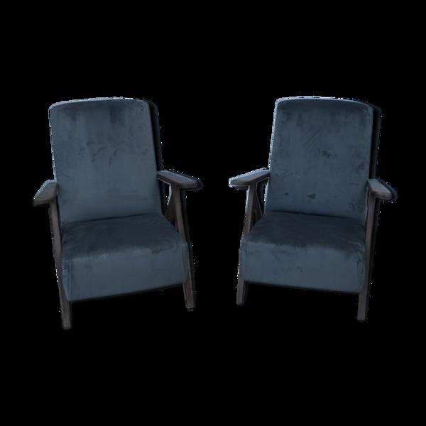 Selency Paire de fauteuils scandinaves