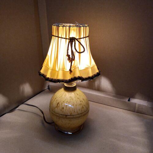 Lampe en verre de Clichy art deco