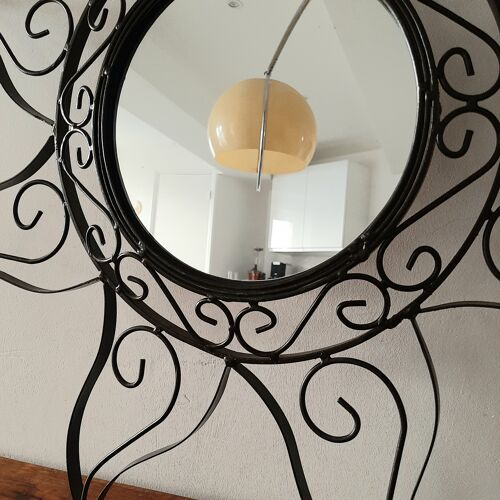 Miroir soleil fer forgé
