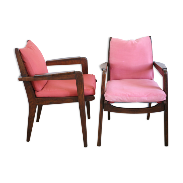 Paire de fauteuils de Pierre Guariche édition Fresspan modèle FS106 France circa 1950