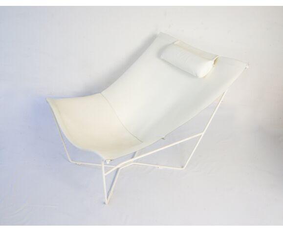 David Weeks for Habitat Semana White Leather Sling Chair