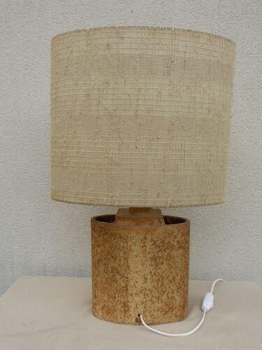 Lampe en grès décor estampé de Roger Capron, circa 1970
