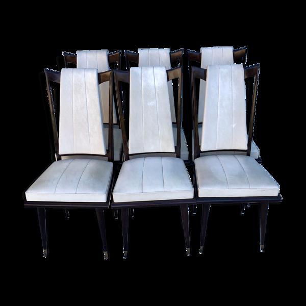 6 chaises de salle à manger vintage