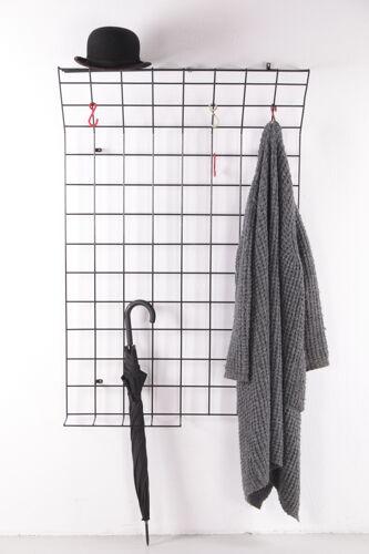Porte-manteau Black String par Karl Fichtel pour Drahtwerke Erlau, années 1950