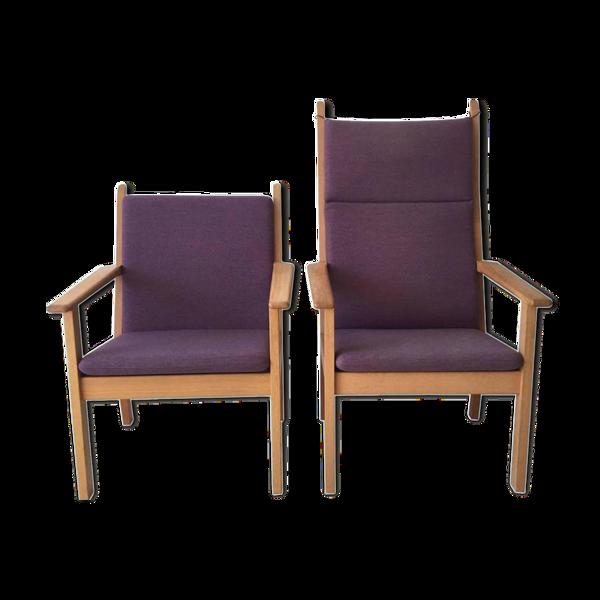 Selency Set of chairs by Hans Wegner for Getama 1980 s