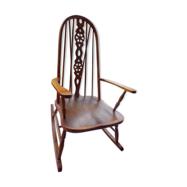 Rocking chair en bois vintage
