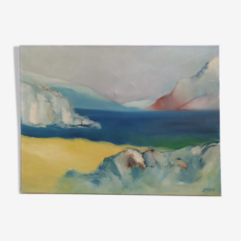 Paysage mer et montagne