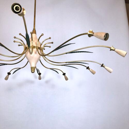Lustre d'araignée en laiton