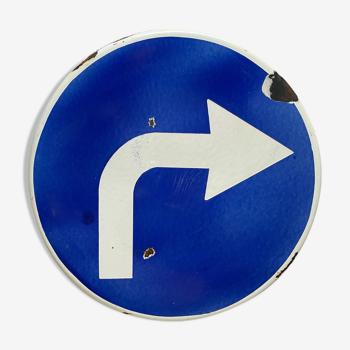 Panneau tournez à droite 1970