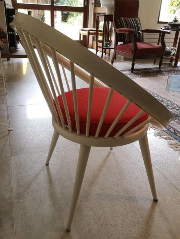 Fauteuil vintage scandinave Circle Chair 1960 Yngve Ekström