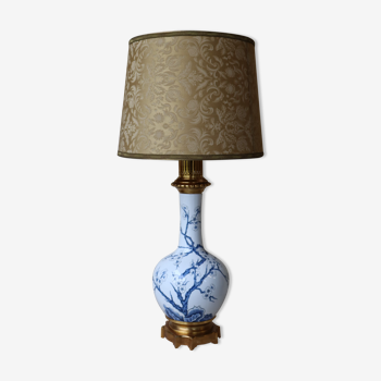 Lampe Hollywood regency chinoiserie porcelaine de Paris