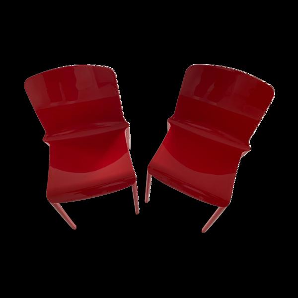 Chaises rouges Tiffany de Casprini
