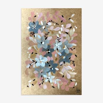 Peinture A4 Fleurs de l'aube