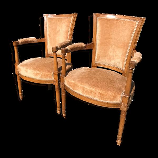Paire de fauteuils époque Empire
