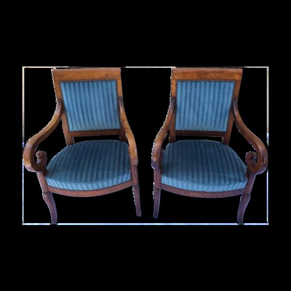 Paire de fauteuils à crosses XIX