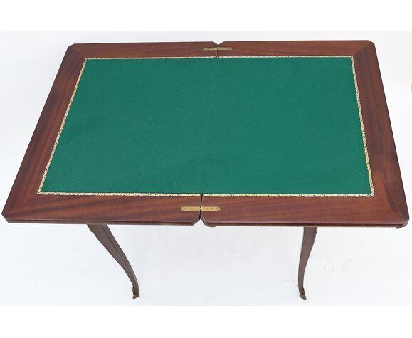 Table à jeux en marqueterie